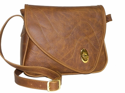 Leather Handbag # 55 Med Brown<br>