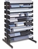 "Turtle Freestanding Multi-Media Rack, 54"" Double Sided, PO-04800103"