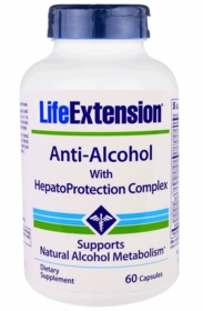 Anti-Alcohol Antioxidants with HepatoProtection Complex - Life Extension - 60 capsules - TwinPak