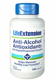 Anti-Alcohol Antioxidants with HepatoProtection Complex - Life Extension - 100 capsules