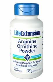 Arginine Ornithine Powder (150 grams) - Life Extension