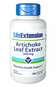 Artichoke Leaf Extract (500 mg) - Life Extension - 180 Vegetarian Caps