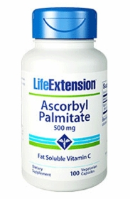 Ascorbyl Palmitate Fat Soluble Vitamin C (500 mg) - Life Extension - 100 Vegetarian Caps