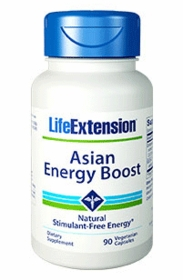 Asian Energy Boost - Life Extension - 90 Vegetarian Capsules - 4-Pak