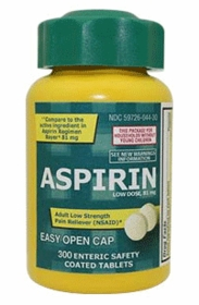 Aspirin (81 mg) - Life Extension - 300 enteric safety coated Low Dose Aspirin tabs