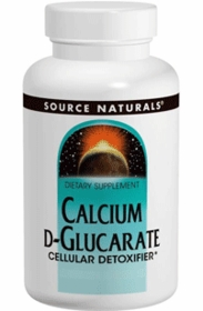 Calcium d-Glucarate (500mg) - Source Naturals - 120 Tabs