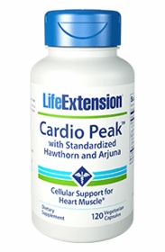 Cardio Peak with Standardized Hawthorn & Arjuna - Life Extension - 120 Vegetarian Capsules