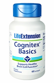 Cognitex Basics - New - Life Extension - 30 Softgels - One Per Day