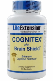 Cognitex with Brain Shield - Life Extension - 90 Softgels - 4-Pak