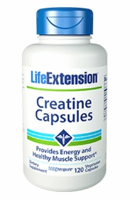 Creatine Capsules (500 mg) - Life Extension - 120 Vegetarian Capsules - TwinPak