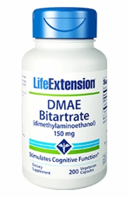 DMAE Bitartrate (150 mg) - Life Extension - 200 Vegetarian Capsules - 4-Pak