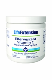 Effervescent Vitamin C Magnesium Crystals - Life Extension - 180 grams