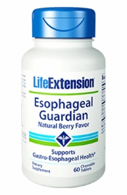 Esophageal Guardian, Natural Berry Flavor - Life Extension - 60 Chewable Tabs