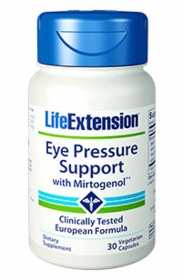 Eye Pressure Support with Mirtogenol - Life Extension - 30 vegetarian capsules