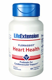 Florassist Heart Health Probiotic - Life Extension - 60 Vegetarian Caps