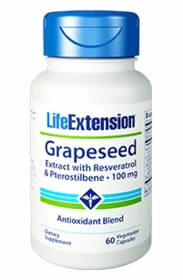 Grapeseed Extract with Resveratrol & Pterostilbene (100 mg) - Life Extension - 60 Capsules