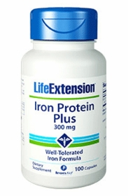 Iron Protein Plus (300 mg) - Life Extension - 100 Caps