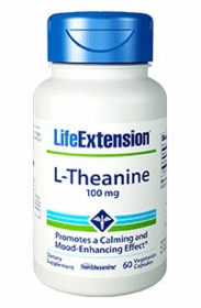 L-Theanine (100 mg) - Life Extension - 60 Caps