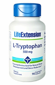 L-Tryptophan (500 mg) - Life Extension - 90 Caps