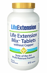 LE Mix Tablets without Copper - Life Extension - 315 Tablets