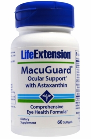 MacuGuard Ocular Support with Astaxanthin - Life Extension - 4-Pak
