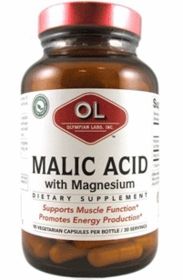 Malic Acid with Magnesium - Olympian Labs (500mg) 90 Vegetarian Caps