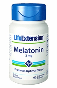 Melatonin (3 mg) - Life Extension - 120 Capsules - TwinPak