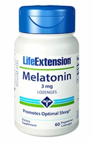 Melatonin (3 mg ) - Life Extension - 120 Vegetarian Lozenges - TwinPak