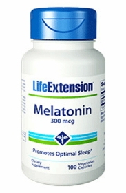 Melatonin (300mcg) - Life Extension - 100 Vegetarian Capsules TwinPak