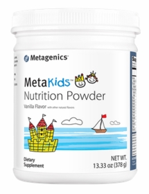 MetaKids Nutrition Powder (now in chocolate or vanilla flavor) - Metagenics (13.33 oz. / 378 g), Rice Protein,  14 Servings - TwinPak