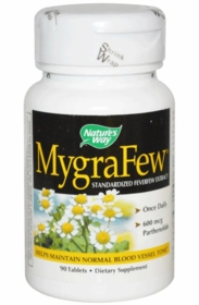 Å MygraFew Standardized Feverfew Extract (600mcg Parthenolide) - 90 Tabs