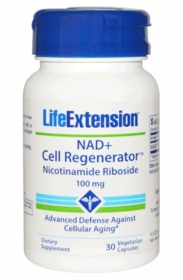 NAD+ Cell Regenerator - Life Extension - Nicotinamide Riboside (100 mg) - Life Extension - 30 Vegetarian Capsules