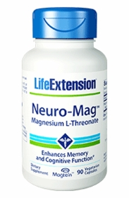 Neuro-Mag Magnesium L-Threonate - Life Extension - 90 Vegetarian Caps