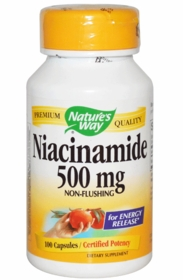 Niacinamide (500mg) - Nature's Way - 100 Capsules - TwinPak