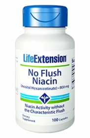 No Flush Niacin (Inositol Hexanicotinate) (800 mg) - Life Extension - 100 Capsules - TwinPak