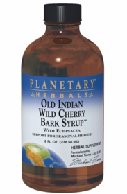 Old Indian Wild Cherry Bark Syrup - Planetary Herbals - 8 fl. oz. (236.56ml)