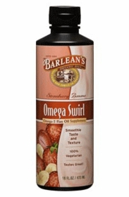 Barlean's Omega Swirl Flax Oil  (strawberry / banana) 16 fl oz