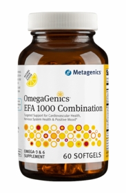 OmegaGenics EFA Combination Lemon - Metagenics (60 Softgels) - TwinPak