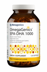 OmegaGenics EPA-DHA 1000 Lemon - Metagenics - 120 Softgels