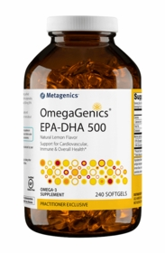 OmegaGenics EPA-DHA 500 Lemon - Metagenics - 240 Softgels