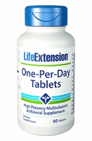 One-Per-Day Tablets - Life Extension - 60 Tablets