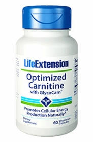 Optimized Carnitine with Glycocarn - Life Extension - 60 Vegetarian Capsules