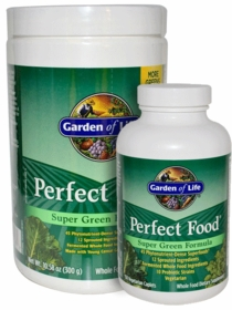 Perfect Food - Garden of Life - Powder (300 grams) or Caplets (150 Count)