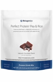 Perfect Protein Pea & Rice - Metagenics - Chocolate - 1200g Powder