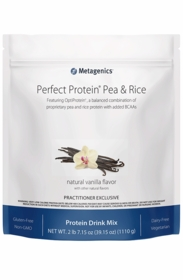 Perfect Protein Pea & Rice - Metagenics - Vanilla - 1110g Powder