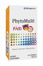 New Grape Formula PhytoMulti Kids - Metagenics - 60 Chewable Tabs