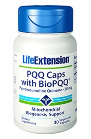 PQQ Capsules with BioPQQ (20 mg) - Life Extension - 30 Vegetarian Caps