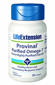 Provinal Purified Omega-7 - Life Extension - 30 softgels - 4-Pak