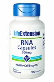 RNA Capsules (Ribonucleic Acid) (500 mg) - Life Extension - 100 Caps