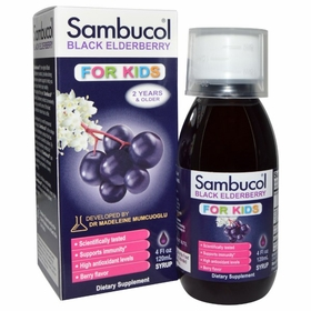 Sambucol Black Elderberry Extract Syrup for Kids - 4 fl oz (120 ml)